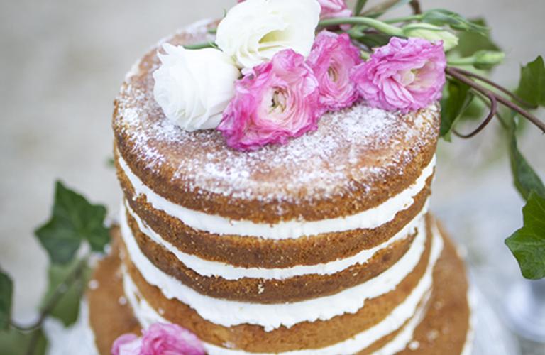 Nude Wedding Cake Italian Villa