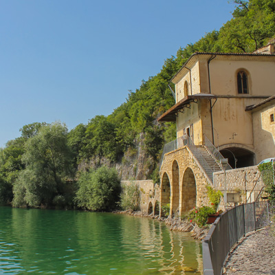 Lake Scanno in Abruzzo National Park Italy